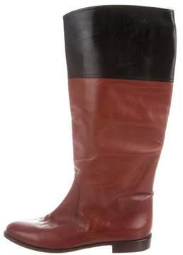 Bruno Magli Leather Bicolor Boots
