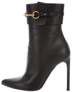 Gucci Ursula Pointed-Toe Ankle Boots