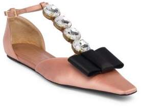 Marni Crystal T-Strap Mary Jane Flats
