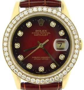 Rolex Datejust 16018 18K Yellow Gold and Diamond Mens Watch