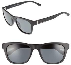 BOSS Men's 53Mm Polarized Sunglasses - Matte Black/ Grey