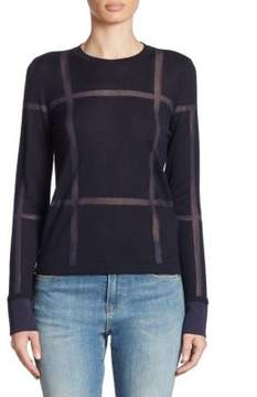 Armani Jeans Wool Window Pane Sweater