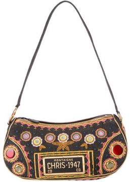 Christian Dior Embroidered Montaigne Chris 1947 Bag