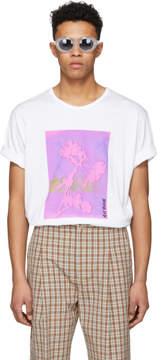 Acne Studios White Naive Flower T-Shirt