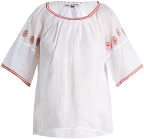 DAY Birger et Mikkelsen JUPE BY JACKIE Sazerac embroidered cotton-organdy top