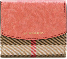 Burberry house check flap wallet - PINK & PURPLE - STYLE