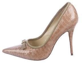 Elizabeth and James Selby Snakeskin Pumps