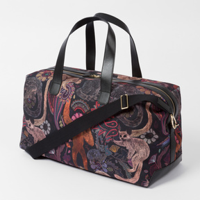 Paul Smith Men's Canvas And Leather 'Monkey' Print Holdall