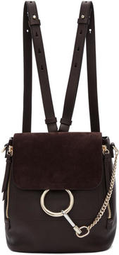 Chloé Brown Small Faye Backpack