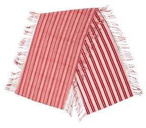 Balenciaga Stripe Printed Fringe Scarf
