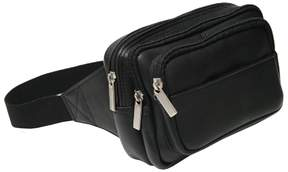 Royce Leather Vaquetta Multi-Compartment Fanny Pack
