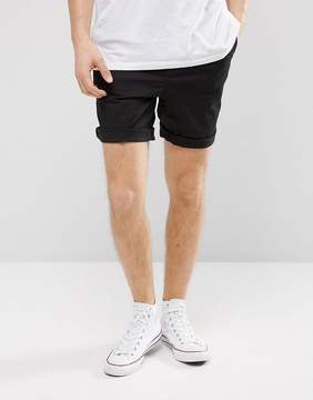 Pull&Bear Chino Shorts In Black