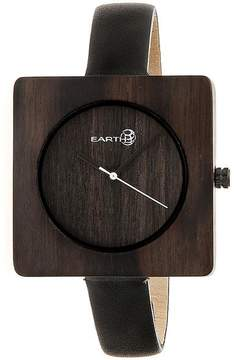 Earth Teton Collection ETHEW3902 Unisex Wood Watch with Leather Strap