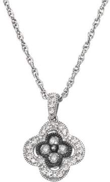 Armani Exchange Jewelry 0.25 Carat T.W. Diamond Sterling Silver Clover Necklace (H-I, I2 and Grey Diamonds)