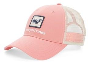 Vineyard Vines Men's Whale Patch Trucker Hat - Pink