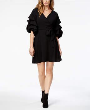 Bar III Ruffled Faux-Wrap Dress, Created for Macy's
