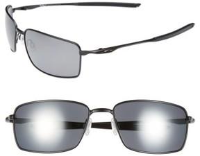 Oakley Men's 60Mm Polarized Sunglasses - Matte Black