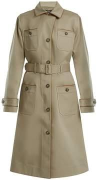 A.P.C. Pauline point-collar cotton-blend trench coat