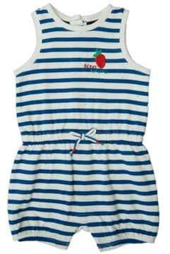 ED Ellen Degeneres Baby Girl's Strawberry Striped Cotton Romper