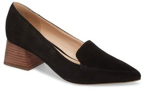 Sole Society Women's Mavis Flare Heel Loafer