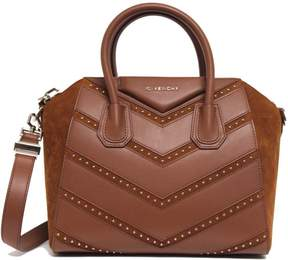 Givenchy Antigona Top Handle Chevron Studded Small Cognac