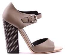 Grey Mer Greymer Women's Grey Leather Heels.