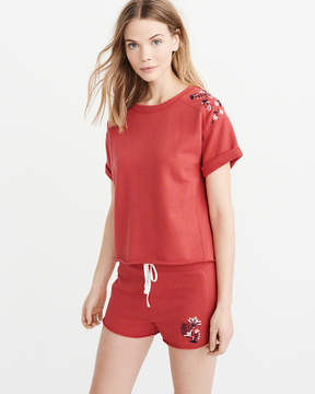 Abercrombie & Fitch Embroidered Crew Sweatshirt