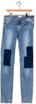 Hudson Girls' Patchwork Distressed Jeans