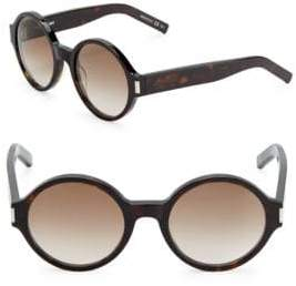 Saint Laurent 52MM Rounded Sunglasses