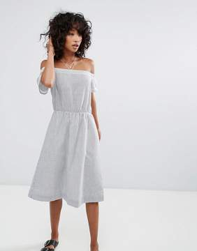 d.RA Santelle Off Shoulder A-Line Dress