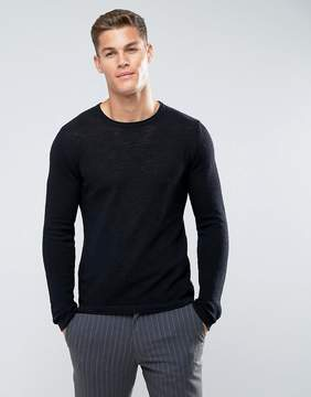 Celio Sweater With Raw Neck In Black