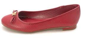 Enzo Angiolini Womens Mirella Leather Closed Toe Slide Flats.