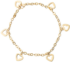 Bliss 14k Gold-Plated Heart Charm Anklet