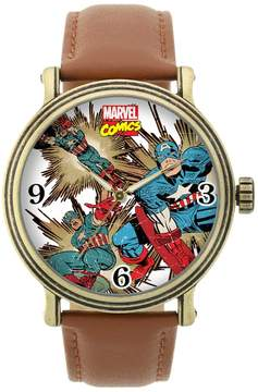 Marvel Captain America Leather Watch