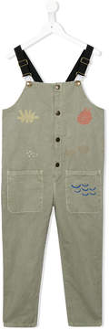 Bobo Choses multiple embroideries dungarees