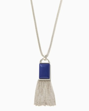 Charming charlie Stone Fringe Pendant Necklace