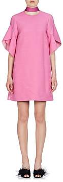 Fendi Women's Tulip-Sleeve Wool-Silk Shift Dress