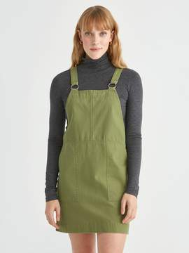 Frank and Oak Utility Pinafore in Military Green