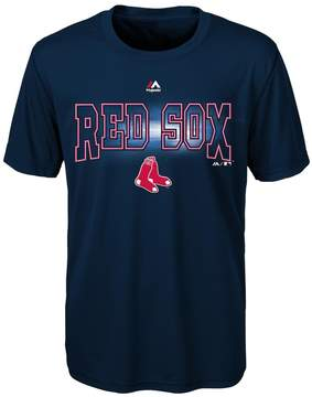 Majestic Boys 8-20 Boston Red Sox Light Up the Field Cool Base Tee