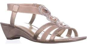 Karen Scott Ks35 Casha Low-wedge Dress Sandals, Light Gold.