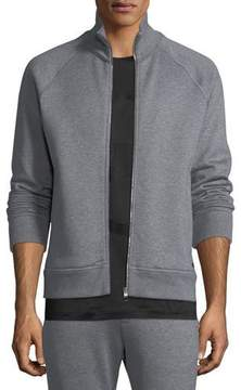 Salvatore Ferragamo Men's Stand-Collar Zip-Front Sweatshirt