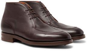 Edward Green Halifax Cross-Grain Leather Chukka Boots