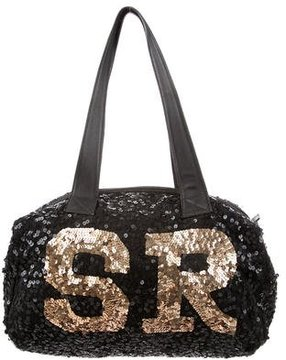 Sonia Rykiel Leather-Trimmed Sequined Bag