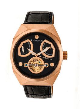 Heritor Oxford Mens Black Strap Watch-Herhr5505