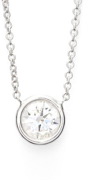 Bony Levy Women's Large Diamond Solitaire Pendant Necklace (Limited Edition) (Nordstrom Exclusive)