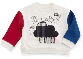Burberry Rain Check Colorblock Sweatshirt, Size 6M-2Y