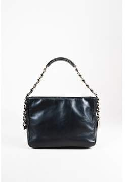 Maison Margiela Pre-owned Black Leather Oversized Chain line 11 Shoulder Bag.