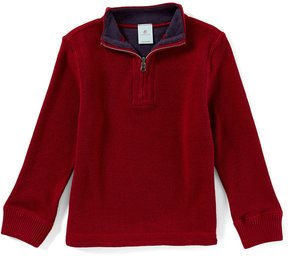 Class Club Little Boys 2T-7 Quarter-Zip Mock-Neck Reversible Sweater