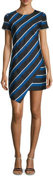 Cynthia Steffe Women's Abby Striped Asymmetrical Dress