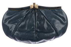 Judith Leiber Leather Oval Clutch w/ Tags